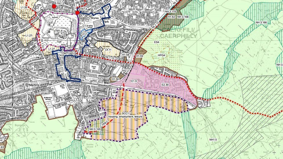 Map of the proposed development