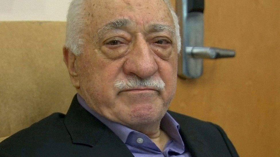 Fethullah Gulen speaks to the media