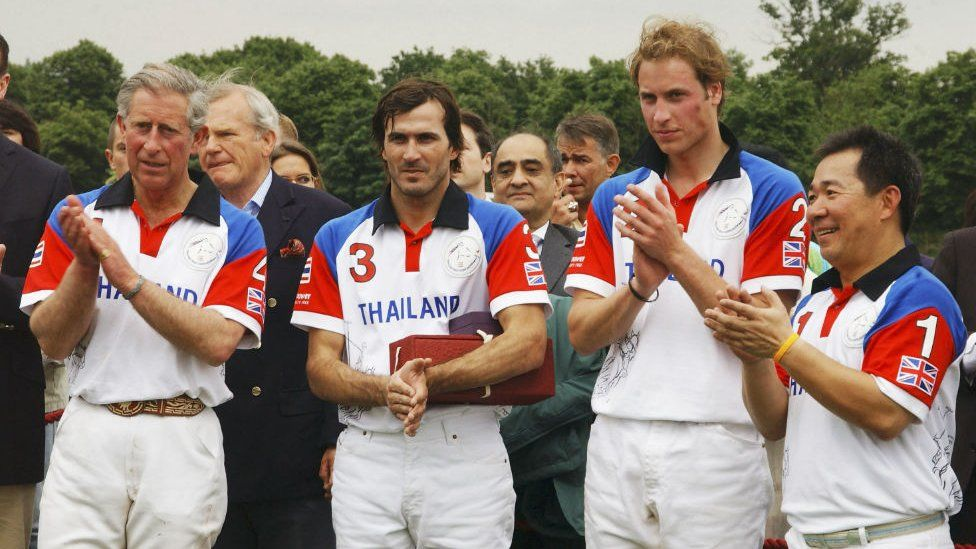 Prince William pictured with Mr Vichai