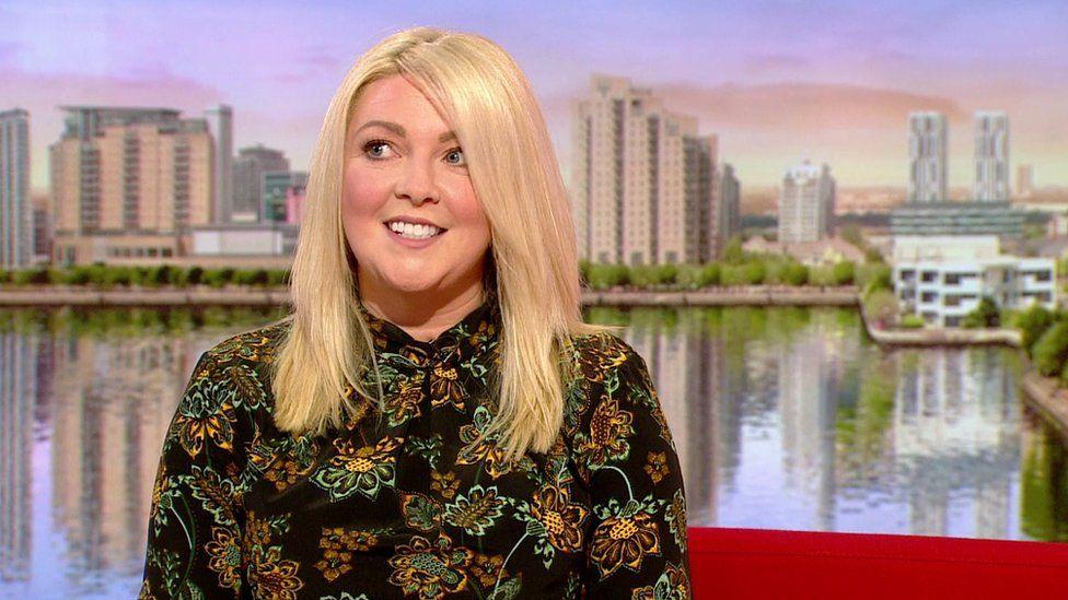 Rachel Pleasant on the BBC Breakfast sofa