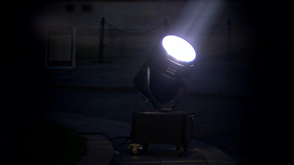 City hall spotlight