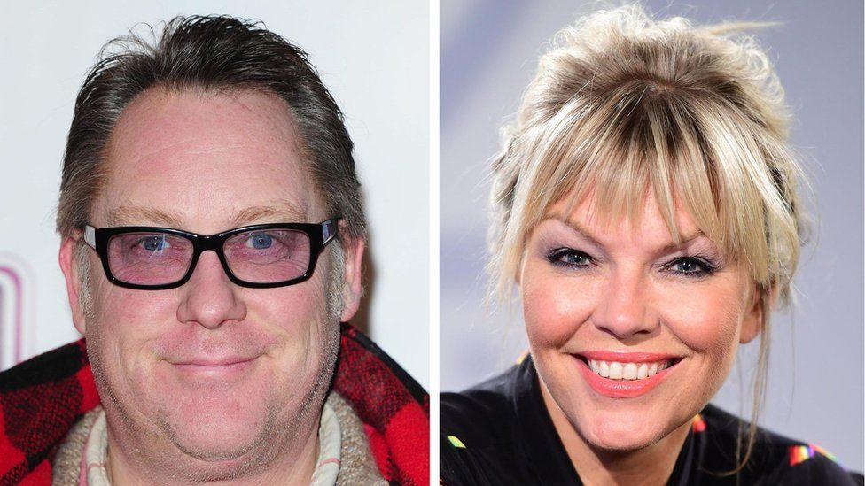 Vic Reeves and Kate Thornton