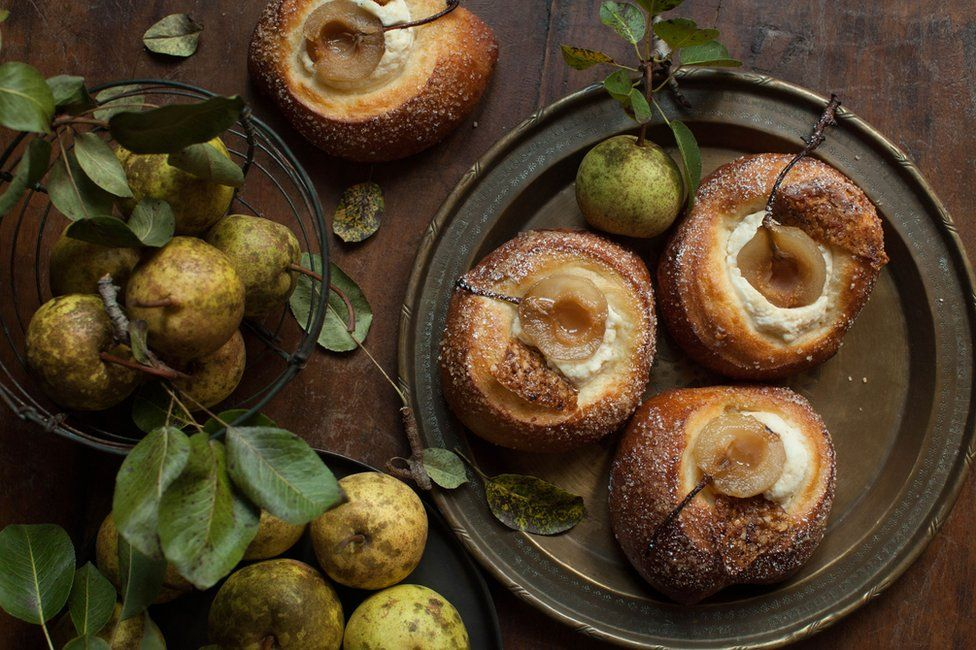Pears made into pastries