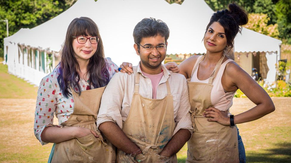 Bake Off finalists Kim-Joy, Rahul and Ruby
