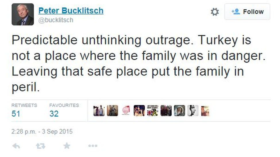 Tweet by Peter Bucklitsch