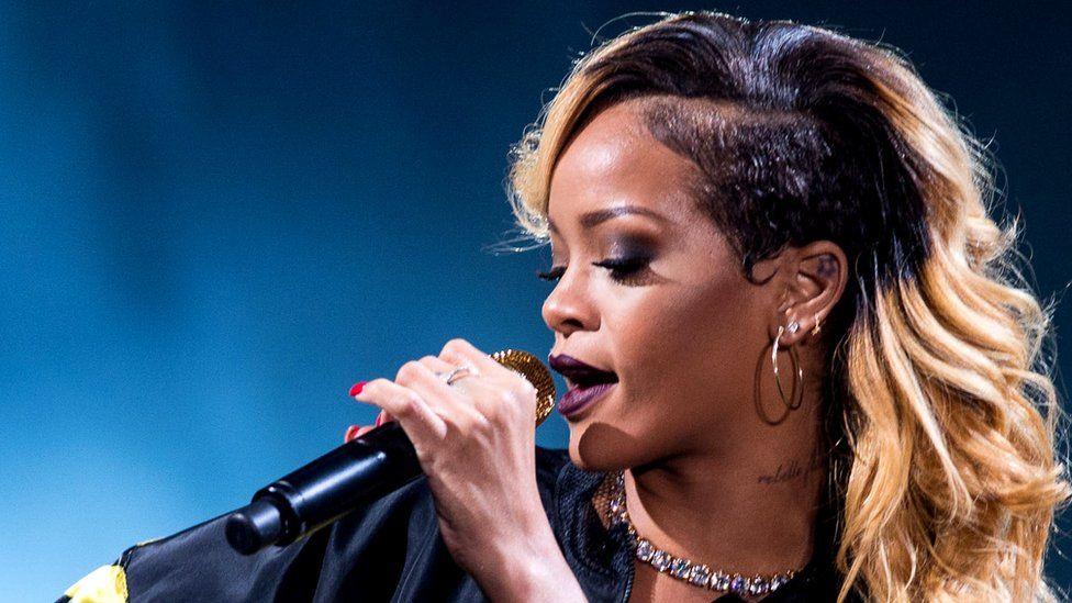 Rihanna performing at T in the Park. Saturday, 13th July, 2013