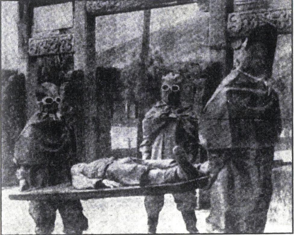 """Foto de archivo que muestra a tropas """"bacteriológicas"""" japonesas en la ciudad de Yiwú, en la provincia china de Zheijang."""