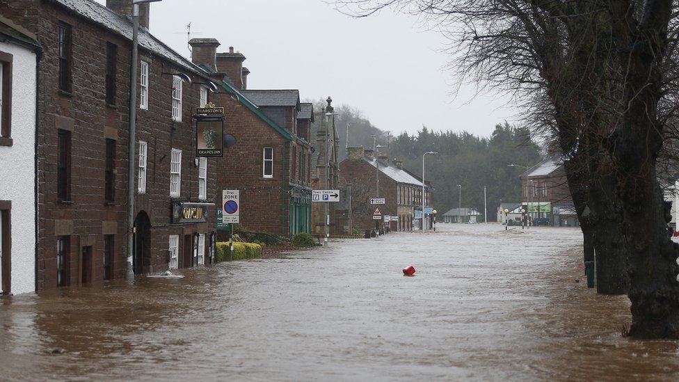 Flooding in Appleby, in Cumbria