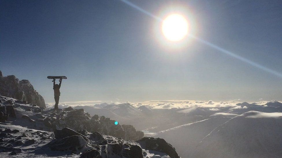 Snowboarding at Glencoe
