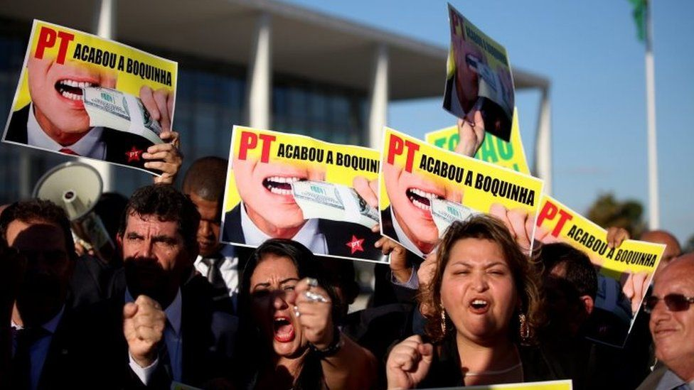 A protest against Dilma Rousseff in Brasilia (12 April 2016)