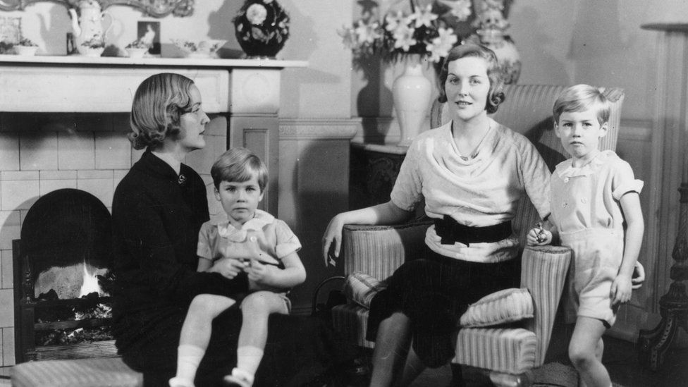 Unity Mitford with Diana and her sons