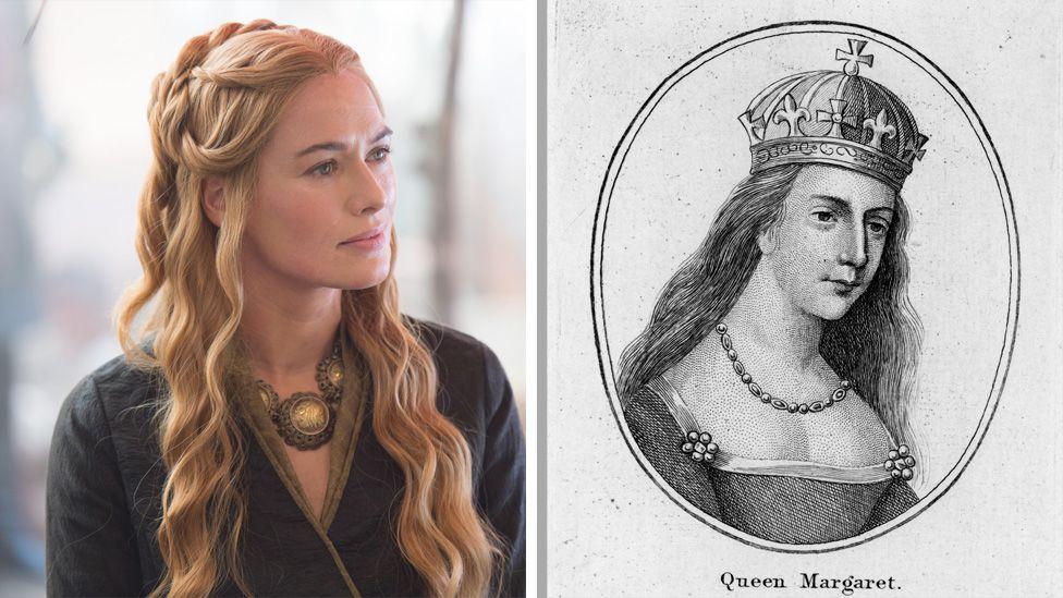(L) Cersei Lannister (R) Margaret of Anjou