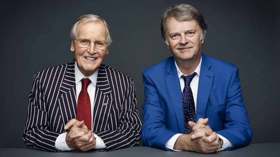 Nicholas Parsons and Paul Merton
