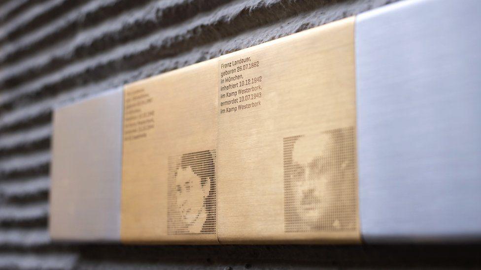 Memorial to Landauers in Munich, 26 Jul 18