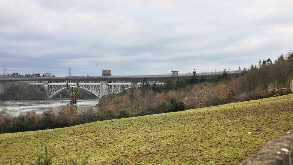 A view of how the bridge would look from the layby on the A5