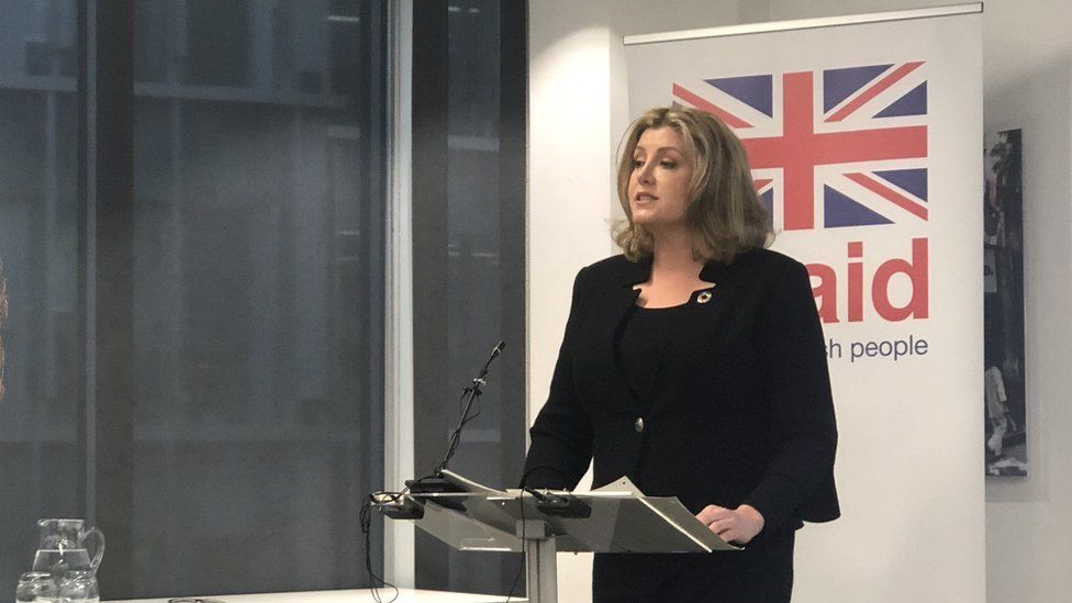 Penny Mordaunt speaks at CDC group