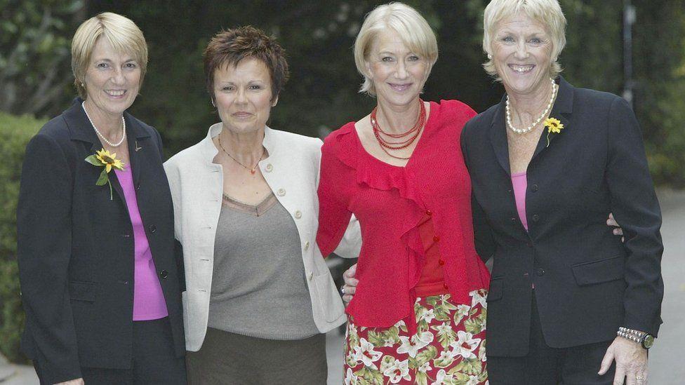 Angela Baker, Helen Mirren, Julie Walters and Tricia Stewart in 2003