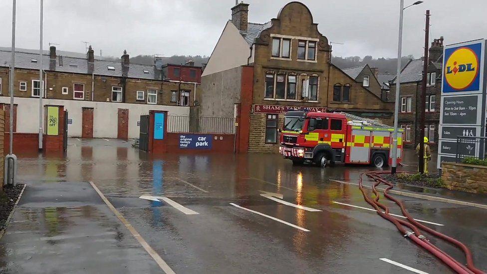 Flood at Todmorden