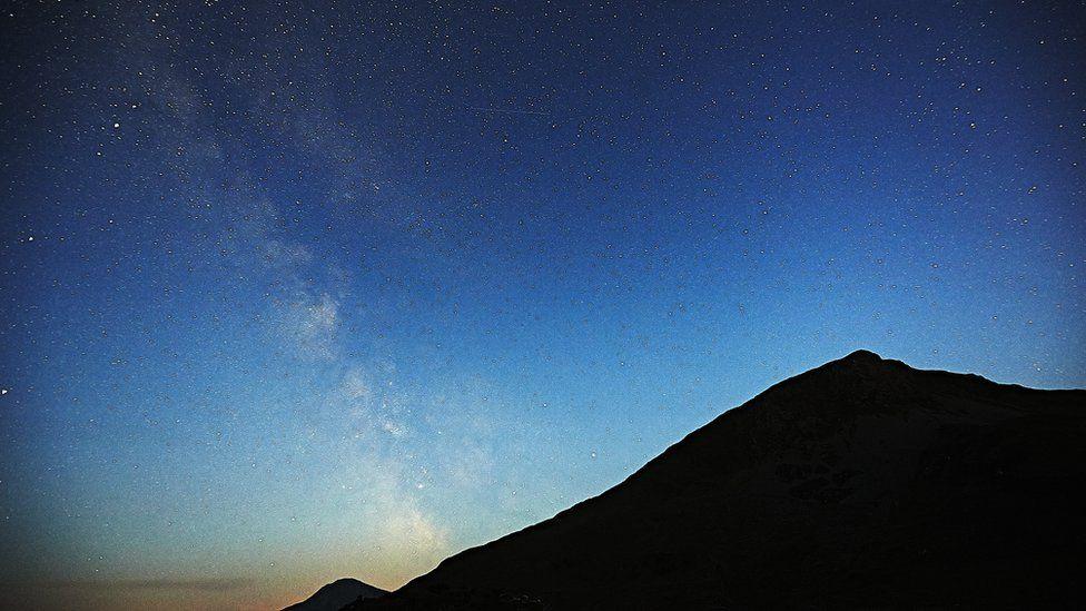 Y Llwybr Llaethog dros Eryri // The milky way over Snowdonia
