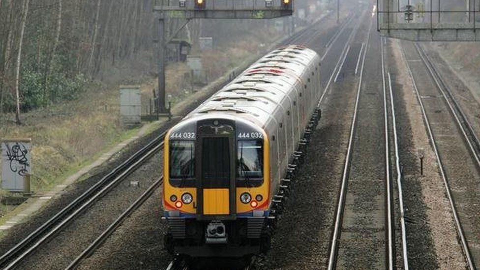 A South West Trains Class 444 Desiro electric multiple unit