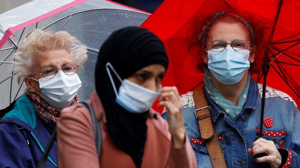 Generic image of women wearing face masks