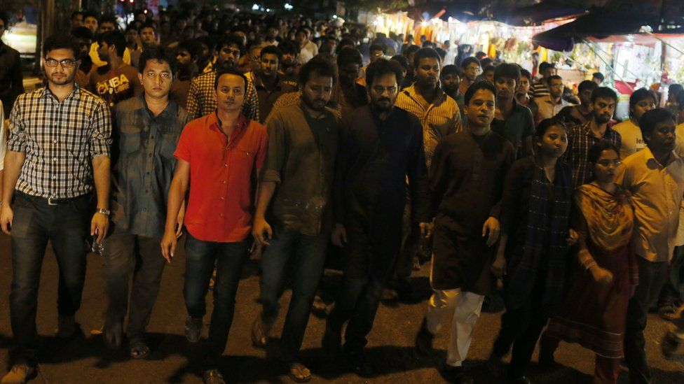 Activists protest against Mr Dipon's death - 31 October