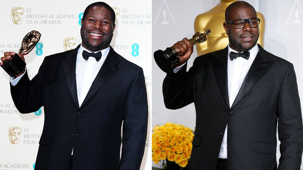 Steve McQueen at the 2014 Bafta Film Awards and Academy Awards