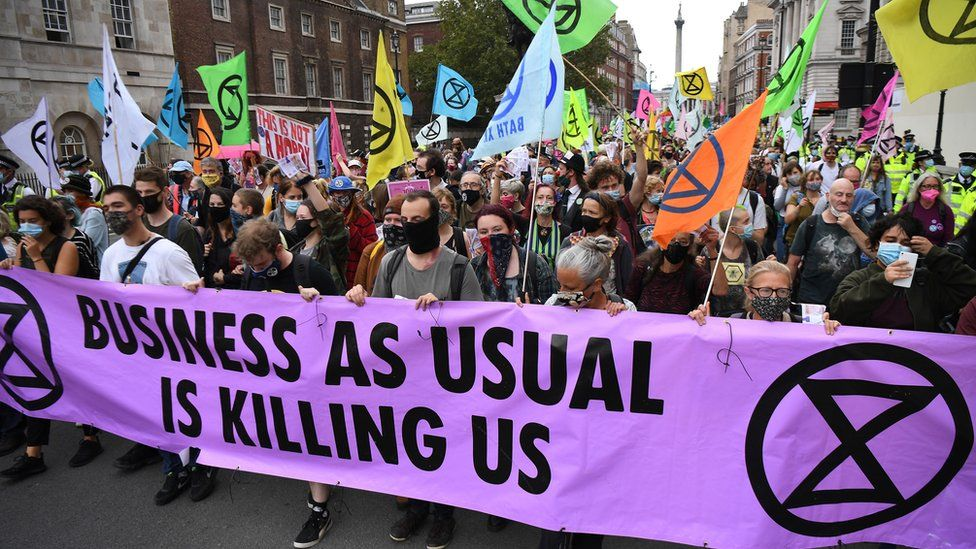 Protesters March in central London