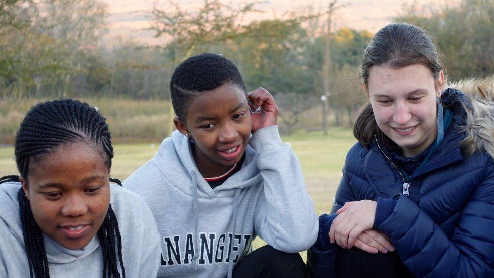 Simamkele Mdunyelwa, Paballo (Pabi) Leqhotsa and Nicole Brink
