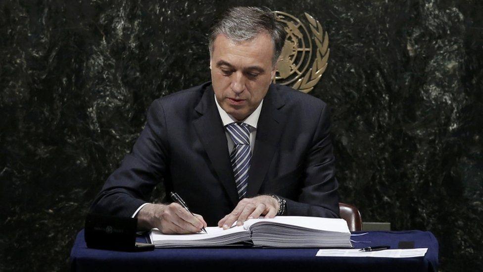 Montenegro's President Filip Vujanovic