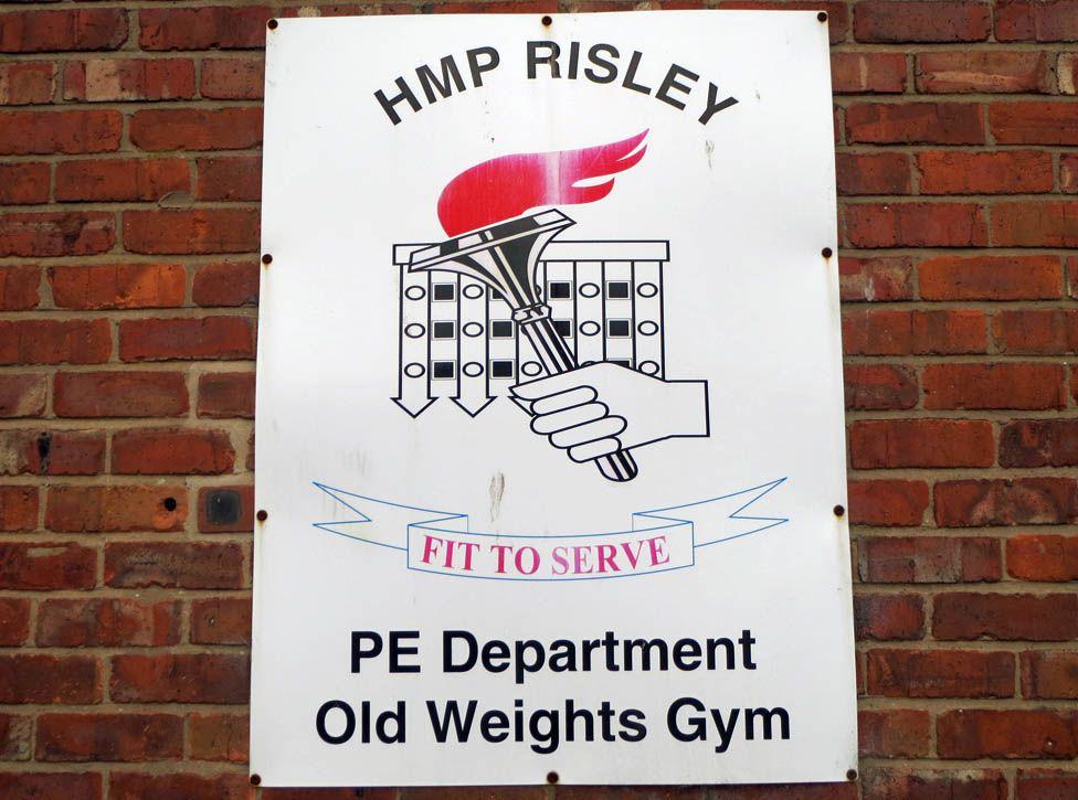 Gym sign at HMP Risley