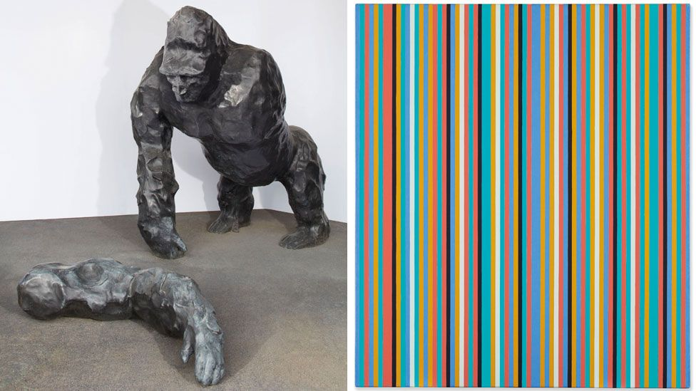 A Couple of Differences Between Thinking and Feeling II by Angus Fairhurst and Songbird by Bridget Riley