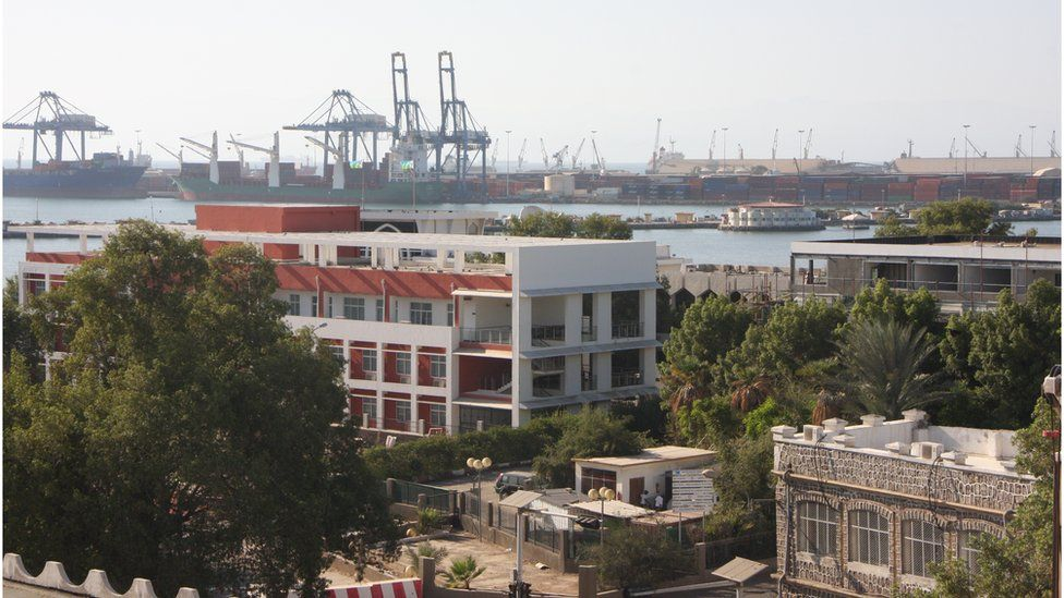 View of Djibouti and its port
