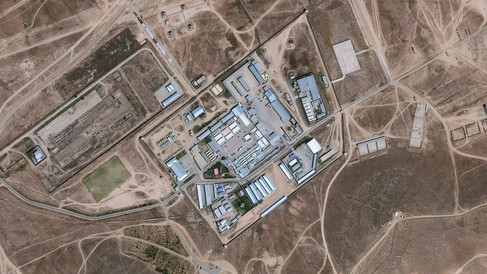 DigitalGlobe satellite imagery of a the Salt Pit outside Kabul, Afghanistan - an isolated clandestine CIA black site prison and interrogation centre