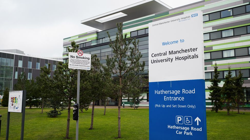 A general view of signage around Manchester University Hospital after it was announced that local councils in Manchester will control their own National Health Service budget on February 25, 2015 in Manchester, England.