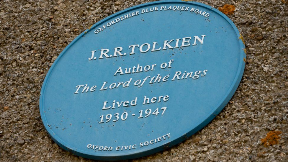 Blue plaque at Tolkien house