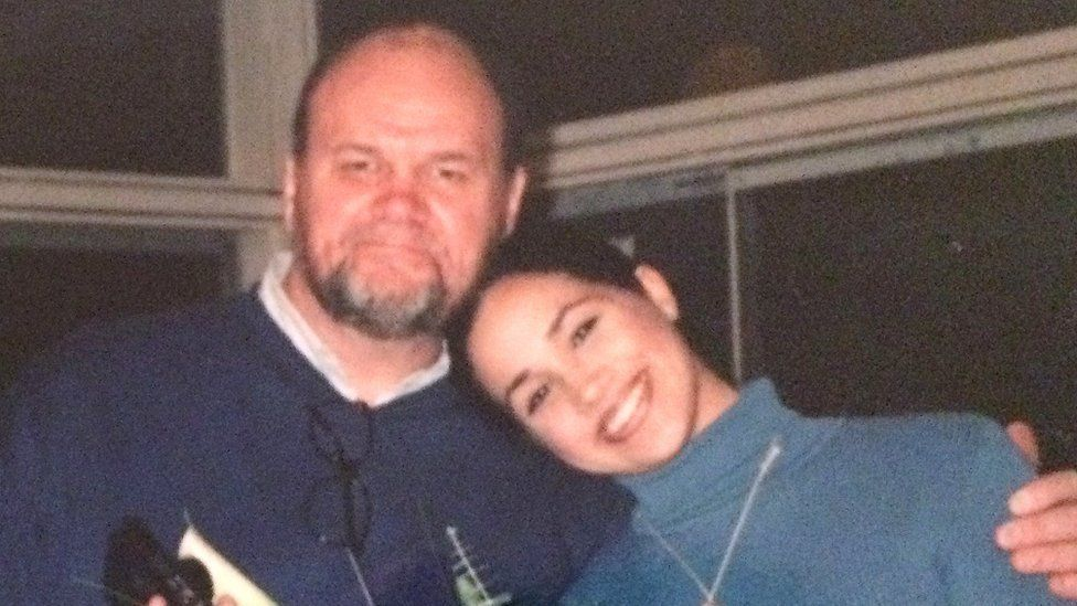 Meghan Markle with her father Thomas
