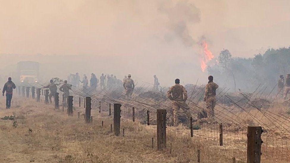 Fire at Lolldaiga conservancy