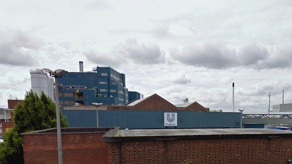 Unilever's factory in Warrington