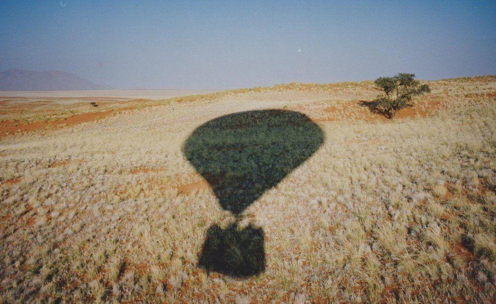 A shadow of a balloon