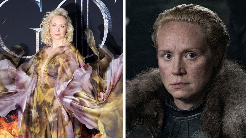 Gwendoline Christie and Brienne of Tarth
