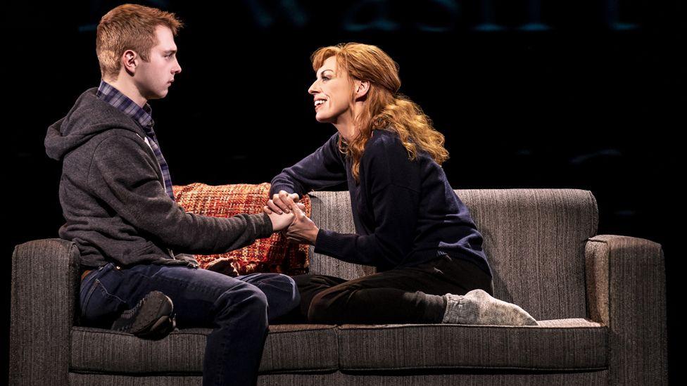 Sam Tutty and Rebecca McKinnis in Dear Evan Hansen