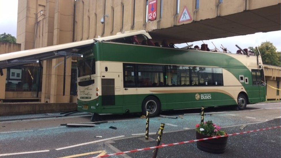 Crashed bus