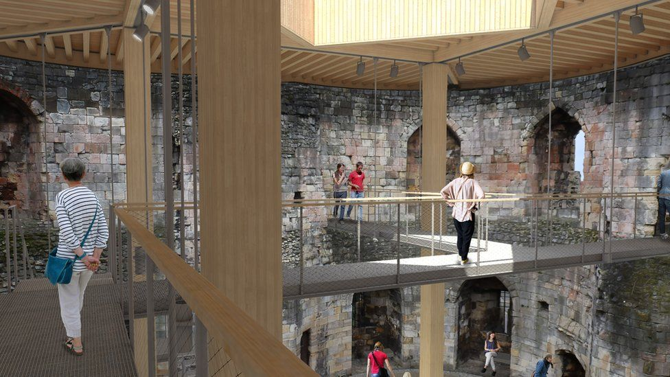 Impression of new walkway's within the tower