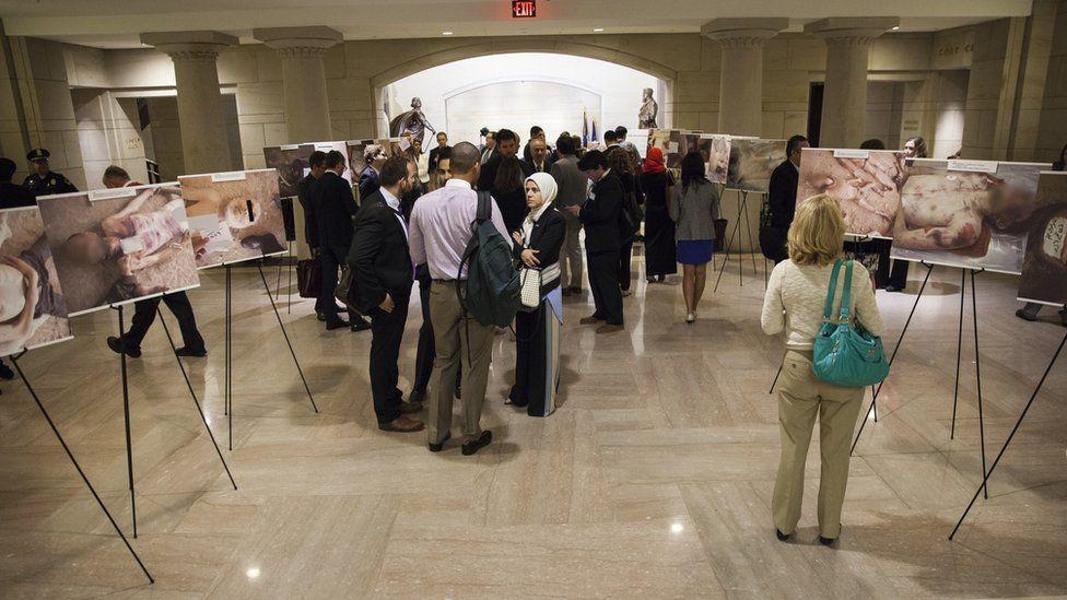 Caesar's Photos: Inside Syria's Secret Prisons exhibition, Washington DC, 2015