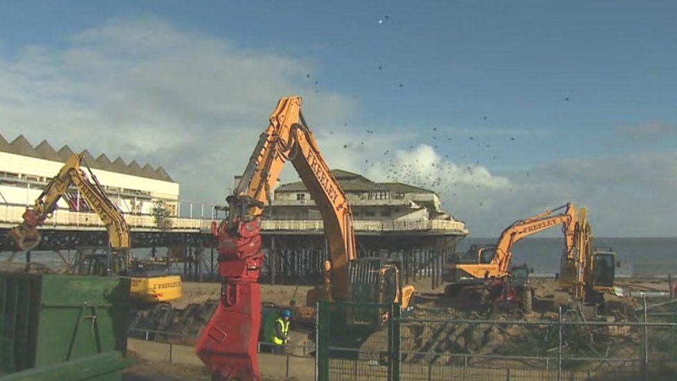 Demolition work has begun