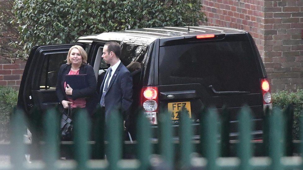 Karen Bradley arrives