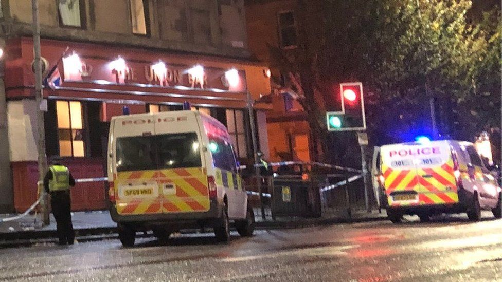 Police outside the Union Bar