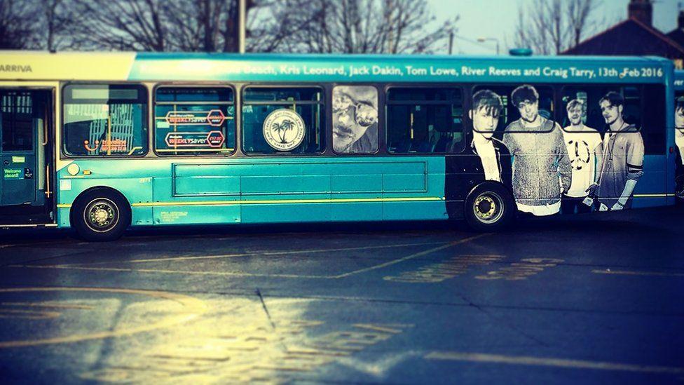 Viola Beach tribute on bus