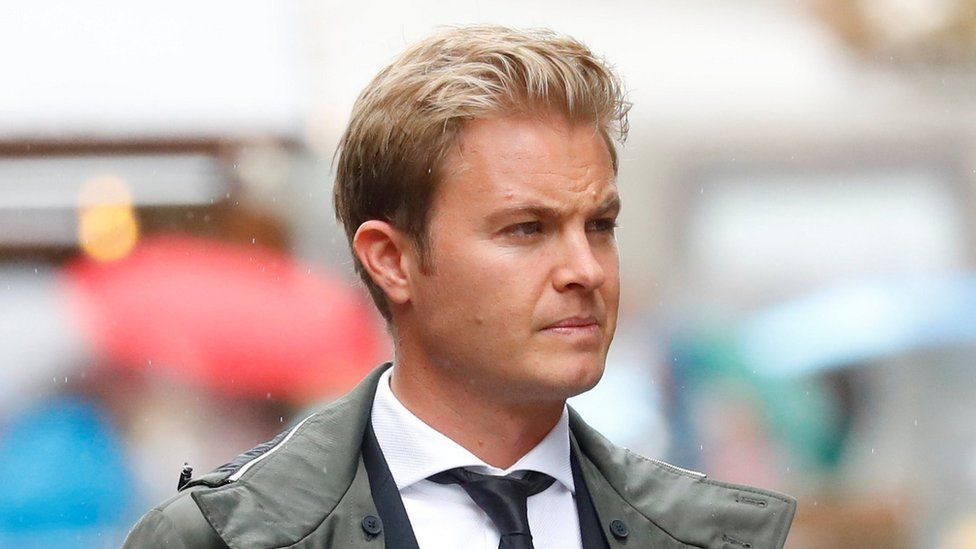 Retired former Formula One driver Nico Rosberg arrives to attend Niki Lauda's funeral ceremony at St Stephen's cathedral in Vienna, Austria